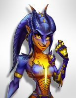 Symmetra Dragon by DarkeDny