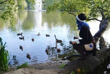 Spending time by the lake with ducks / Juvia by destinette