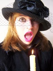 Women With Candle And Hat 02 by Gracies-Stock