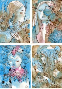Four Small Watercolor Pieces by nati
