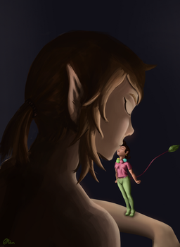 Big Claudia and Link by Oten-Drawings