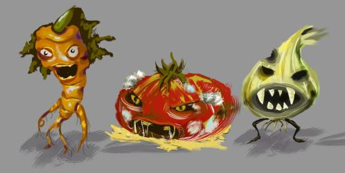 Rotten Vegetables by katmeo