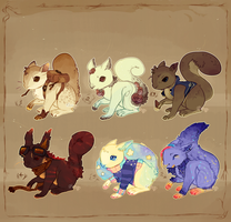 Squirrel Adopts! .:Closed:. by Pietastic-Creations