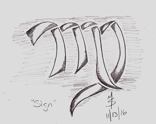 Sketchavember 11/13/16 - Sign by Ginkage