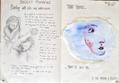 Sketchbook pages - Project Sleep by PaulinaKolar