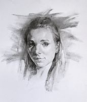 Charcoal Portrait Study, Practice 31 by AnaviTil