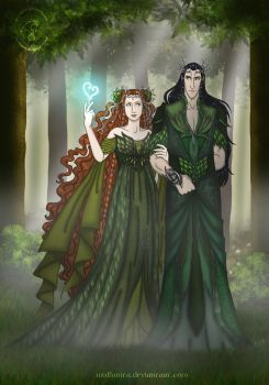 Titania and Oberon by wolfanita