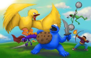 Cookie Monster Hunter! by gavacho13
