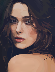 Keira Knightley Portrait by AquaticFishy