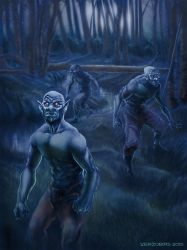 Lycans in the woods low by verzobias