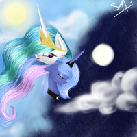 Luna and Celestia by mrsElisSmitt
