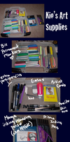 My Art Supplies and References by HoneyAppleNinja