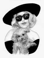 Lady Gaga and Fozzi by thebadkitty5