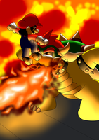 Mario VS Bowser by GeekytheMariotaku