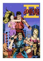 Double Dragon 2 arcade flyer remake by Teagle