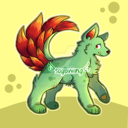 Art Trade - teal_newt by soyawing