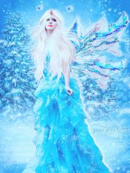 Winter Fairy with Snow Animation by JassysART