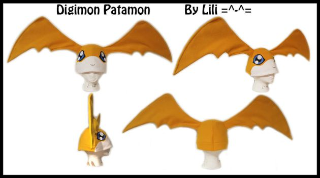 Digimon - Patamon V2 Hat by LiliNeko