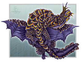 Seaslug Dragon by mythrilflare