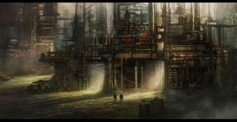 Industrial Stronghold by DanilLovesFood