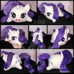 BronyCon'18 - MLP Rarity Chibi/Roll/Stacking Plush by RubioWolf