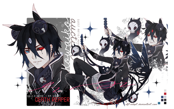 [OPEN! AB ADDED] GA Kowaiko- Death Reaper! by Skf-Adopt