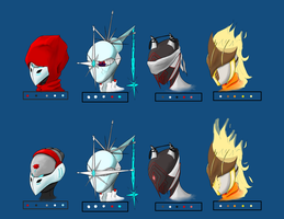 RWBY Warframe Crossover - Helmet design Colorized by firen777