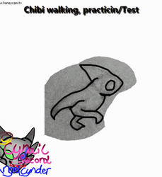 Chibi walking Practicing/Test Trantional animation by AngelCnderDream14