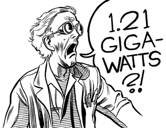Inktober 2015 - Doc Brown by mistermuck