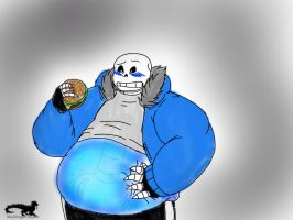 Undertum: C.S Overdoes it on Burgers by Chubby-BlackDragon