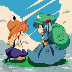 Frog and Kappa by raburine