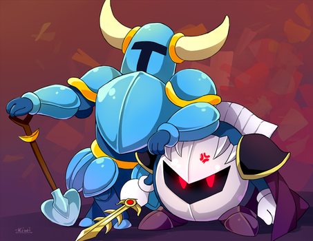Meta Knight Shovel Knight commission by ToasterKiwi
