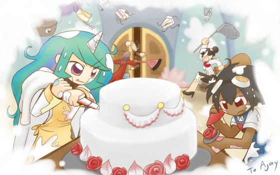 Commission For the perfect cake by HowXu