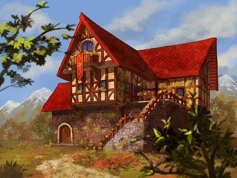 Red Nightingale Inn by Athena-Erocith
