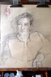 Preparatory sketch for a portrait by hanestetico