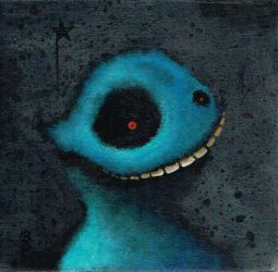 Blue Fuzzy Monster by bryancollins