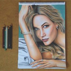 Karlie Kloss Coloured Portrait by Narniakid