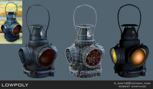 Oil Lantern Lowpoly by ROB-MAPS