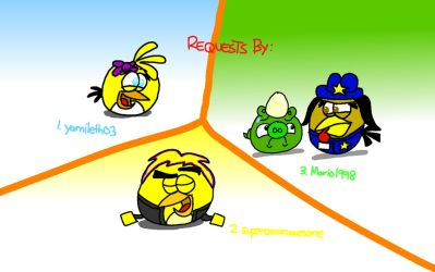 Angry Birds OCs Draws! (3-in-1 Request) by AngryBirdsStuff