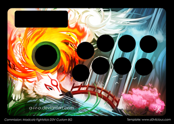 commission okami madcatz fightstick template d3v by a i r o on