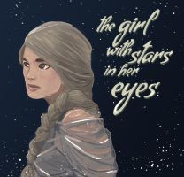 the girl with stars in her eyes. by amiima
