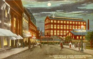 Night Scene Postcards - Altoona, PA by Yesterdays-Paper