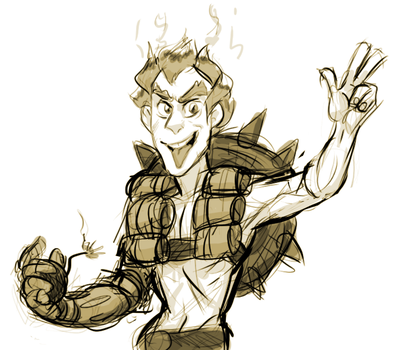 Junkrat (EXTREMELY fast doodle) by AccursedAsche