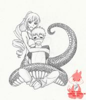 Monster Girl - Lamia by HannibolLove