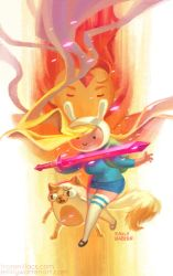 Fionna and Cake Variant Cover by emilywarrenart