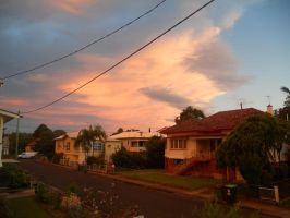 Sunset on Simmons St by monstatofu2011
