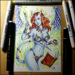 Sketchbook - Sexy librarian color by Candra