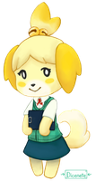 Isabelle - Animal Crossing Sticker by Dicenete