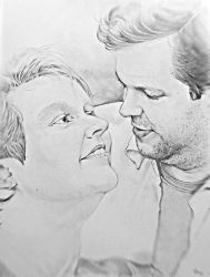 Me and my Love on paper by Strooitje