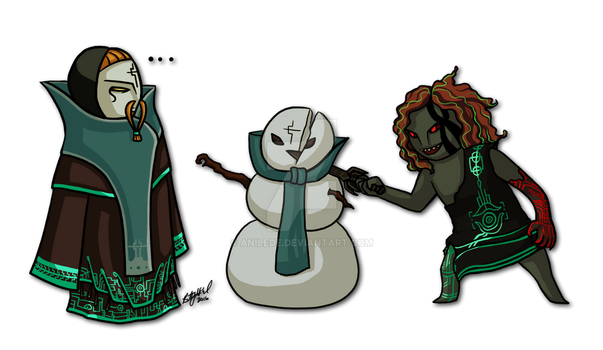 Ruined Snowman by Anilede